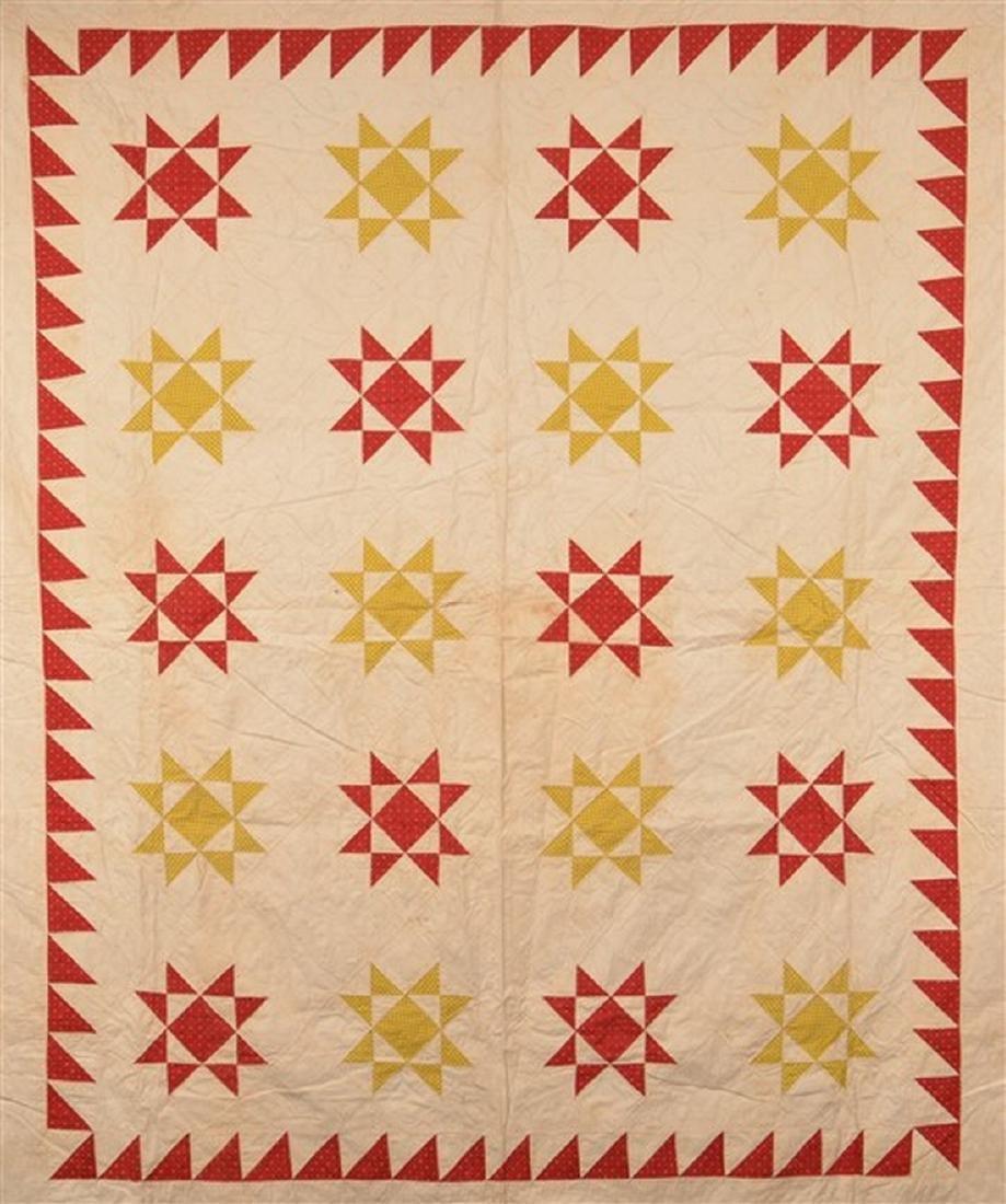 Antique Star Pattern Patchwork Quilt. - 2