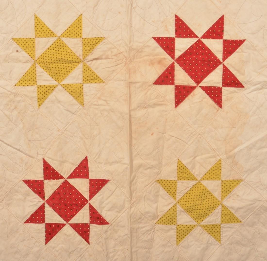 Antique Star Pattern Patchwork Quilt. - 3