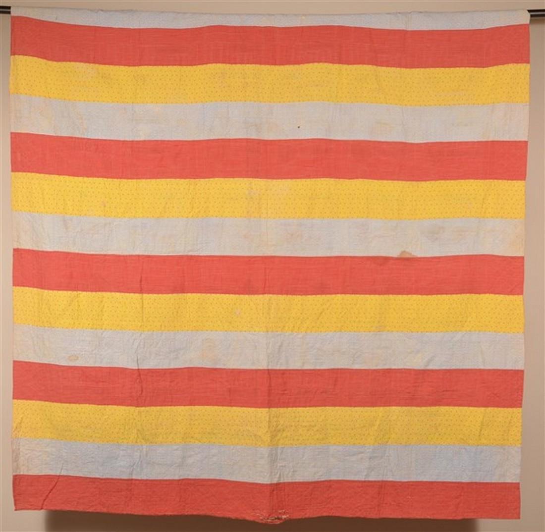 Antique Schoolhouse Pattern Patchwork Quilt. - 4