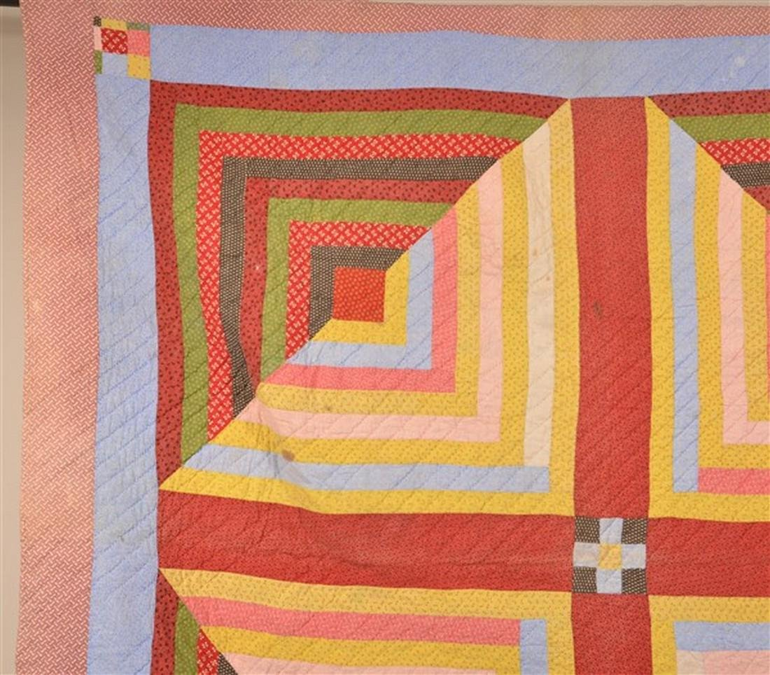 Rare Double-Sided Geometric Patchwork Quilt. - 3
