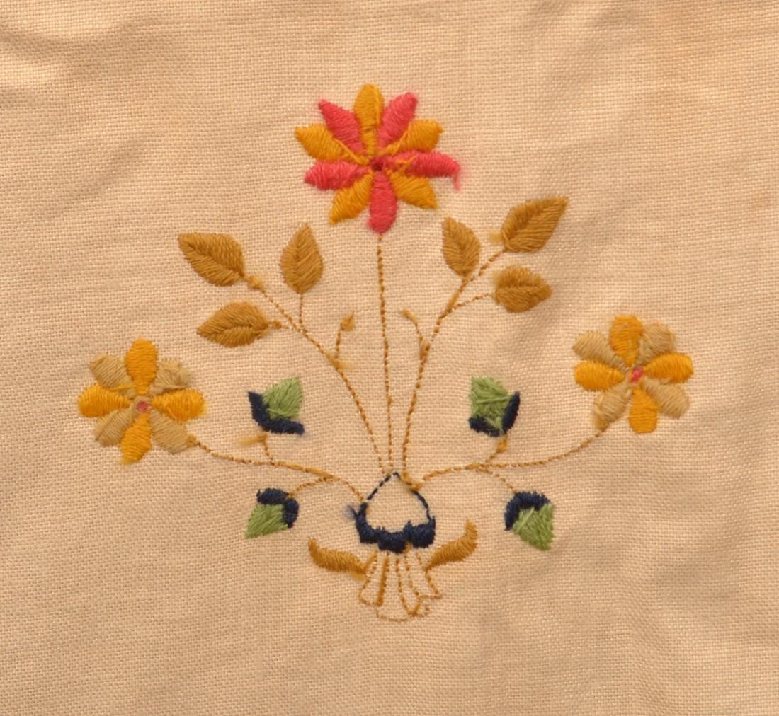Paragon Bird Tree Floral Needlework Bedspread. - 4