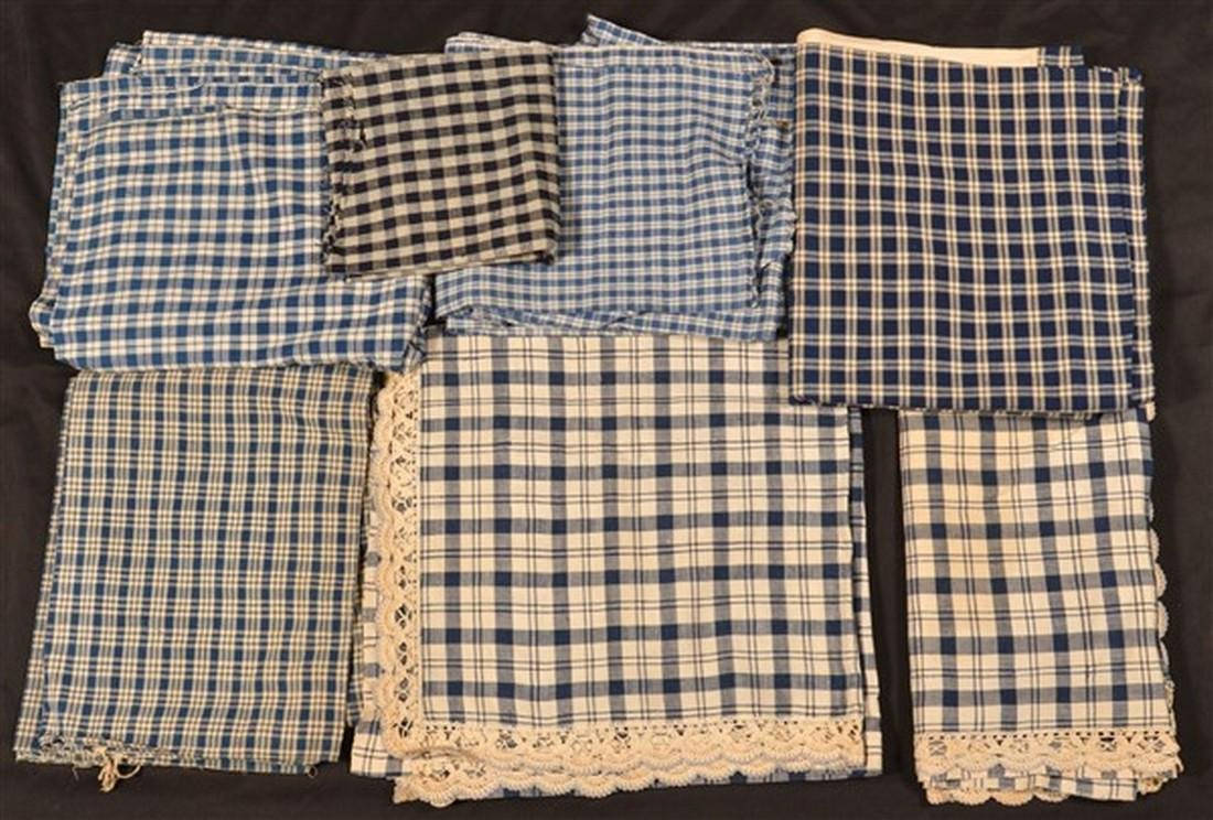 Lot of PA 19th Century Checked Homespun.