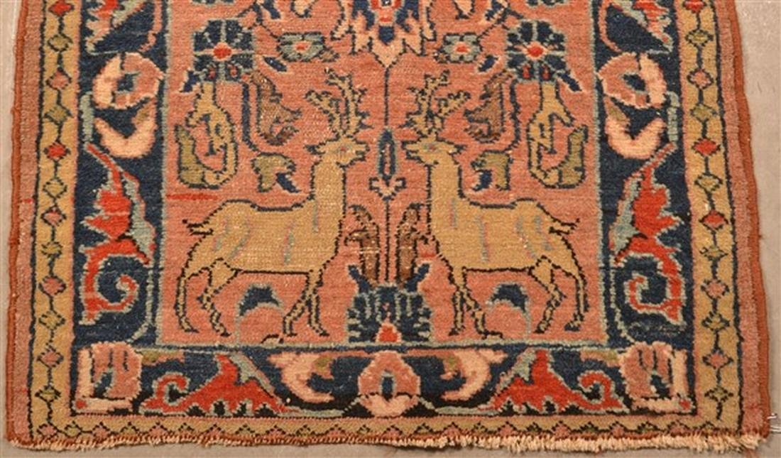Small Antique Oriental Area Rug. - 2