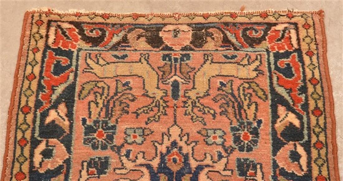 Small Antique Oriental Area Rug. - 3