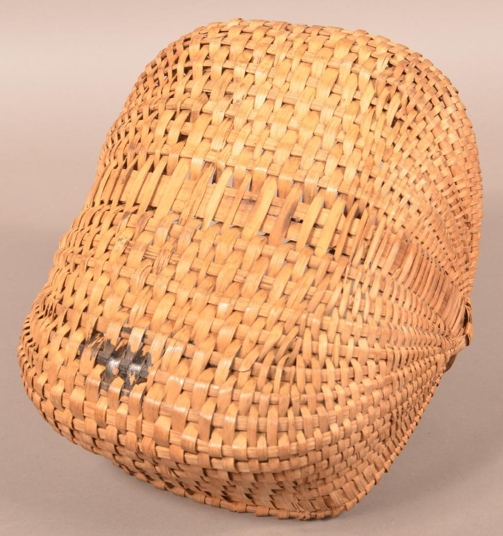 Rectangular Woven Oak Split Market Basket. - 3