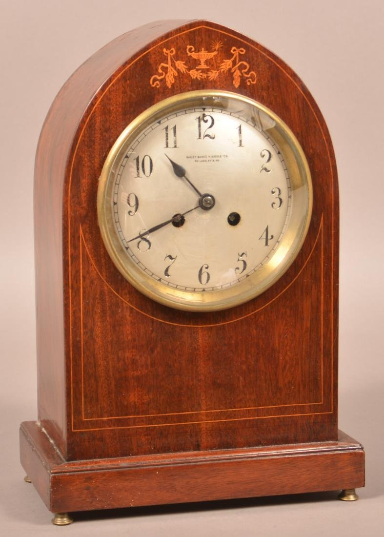 Bailey, Banks & Biddle Inlaid Mahogany Clock.