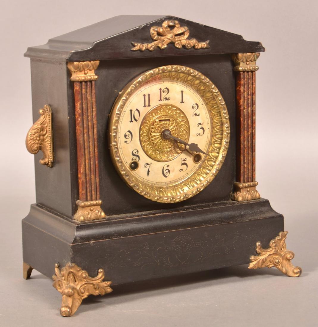Ingraham Ormalu Mounted Wood  Shelf Clock.