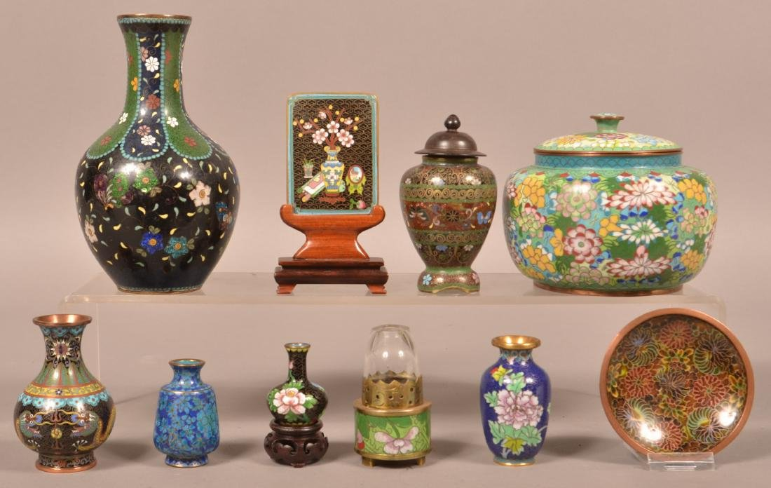 Ten Various Pieces of Vintage Cloisonné.