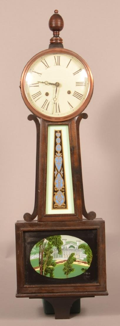 19th Century Mahogany Case Banjo Clock.