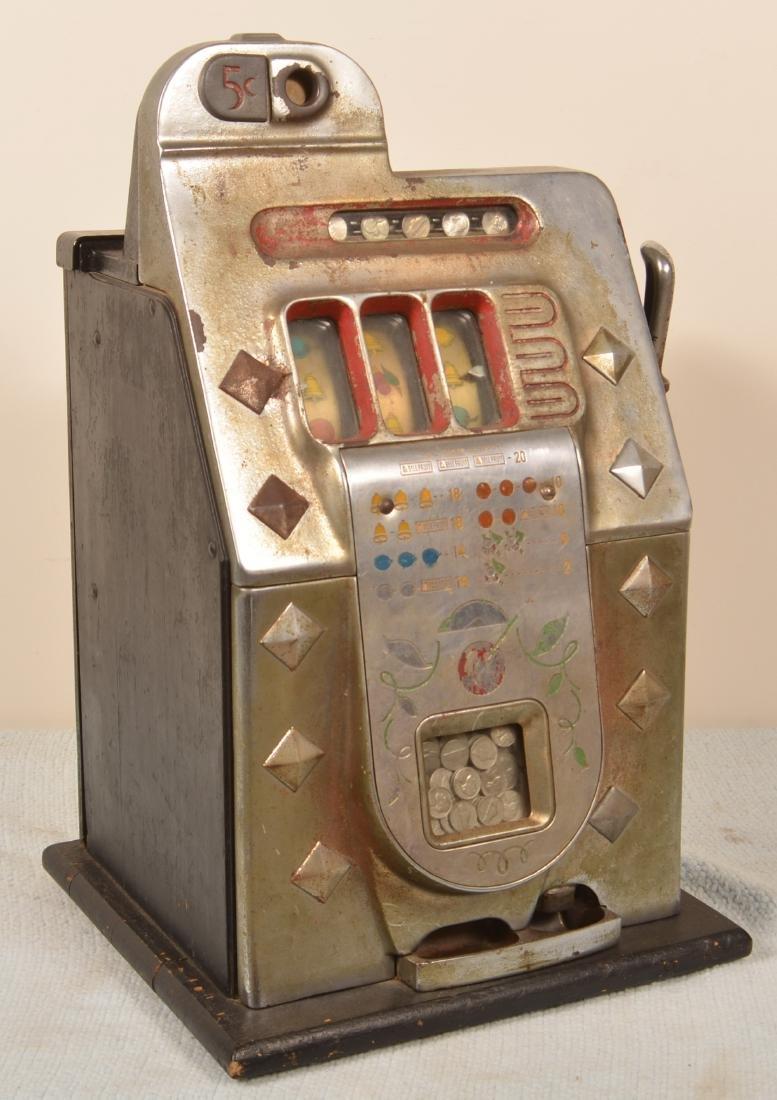Mills Art Deco 5¢ Slot Machine.