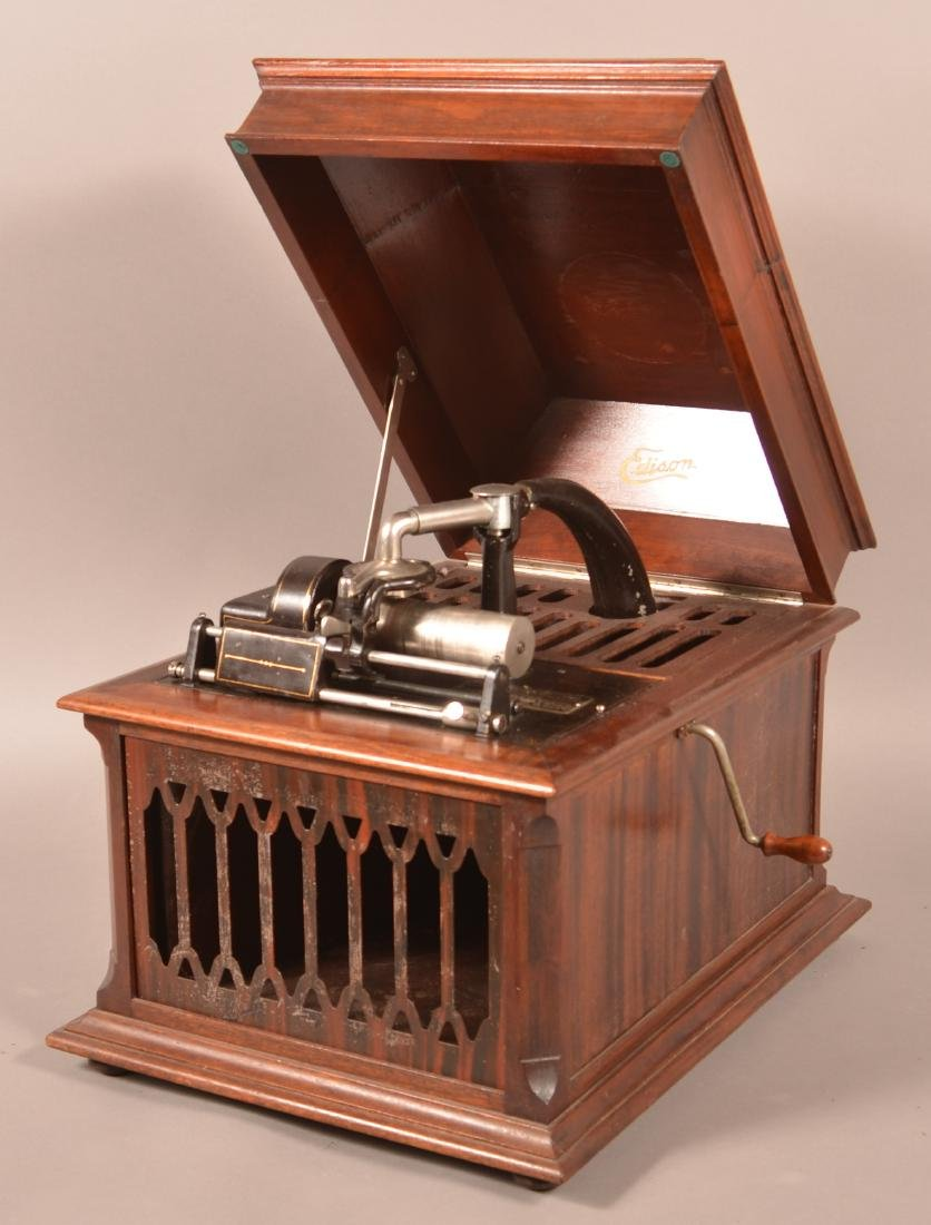 Edison Amberola Cylinder Record Player.