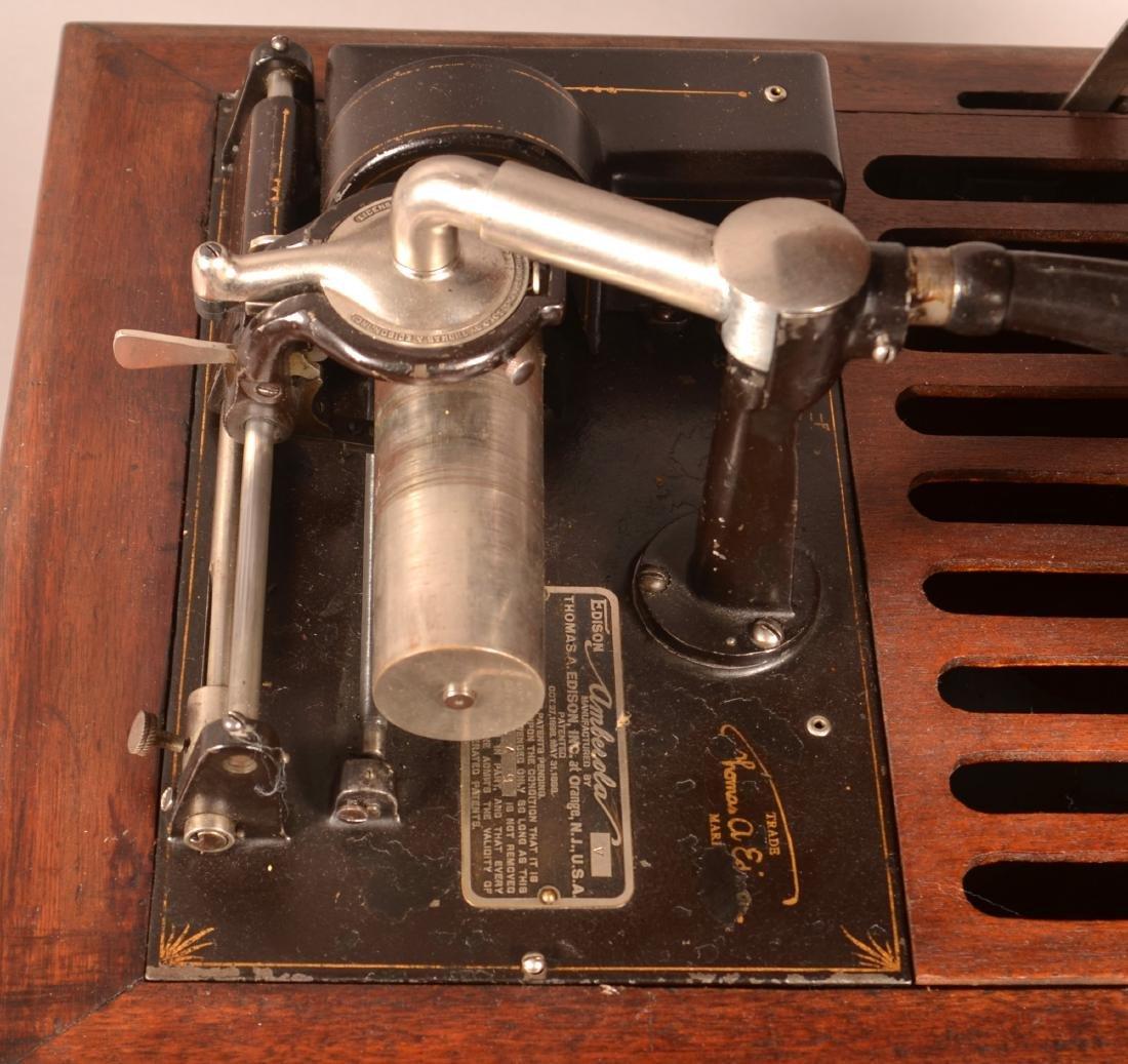 Edison Amberola Cylinder Record Player. - 2