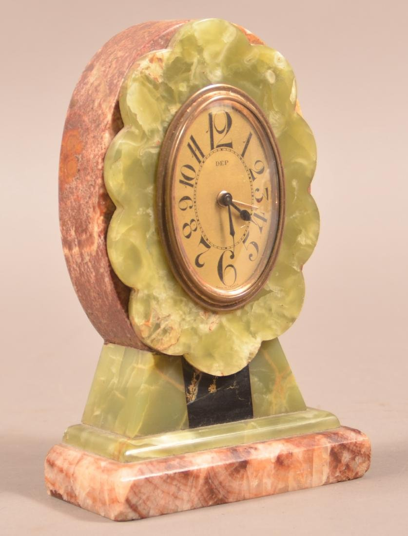 French Art Deco Marble Case Alarm Clock.