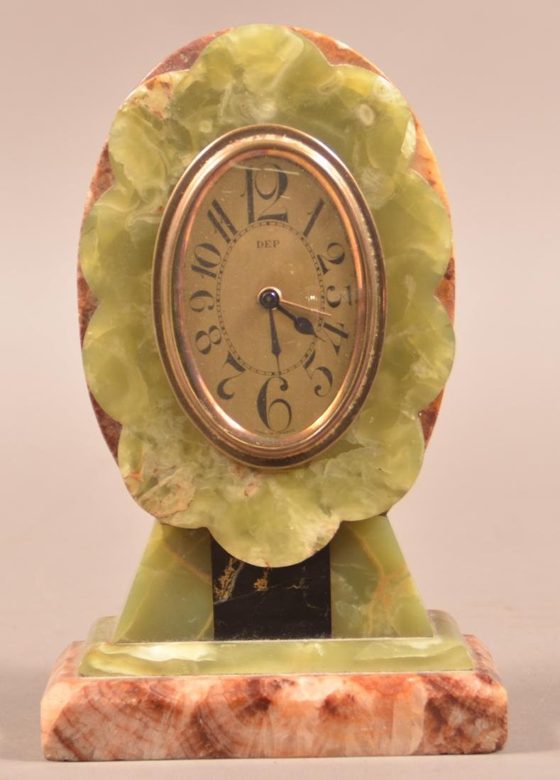 French Art Deco Marble Case Alarm Clock. - 2