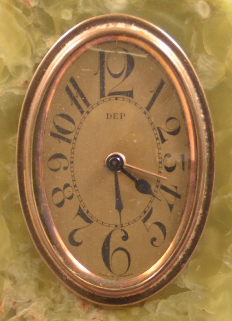 French Art Deco Marble Case Alarm Clock. - 3
