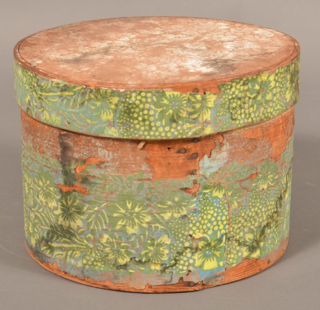 Two 19th Century Wallpaper Covered Boxes. - 2