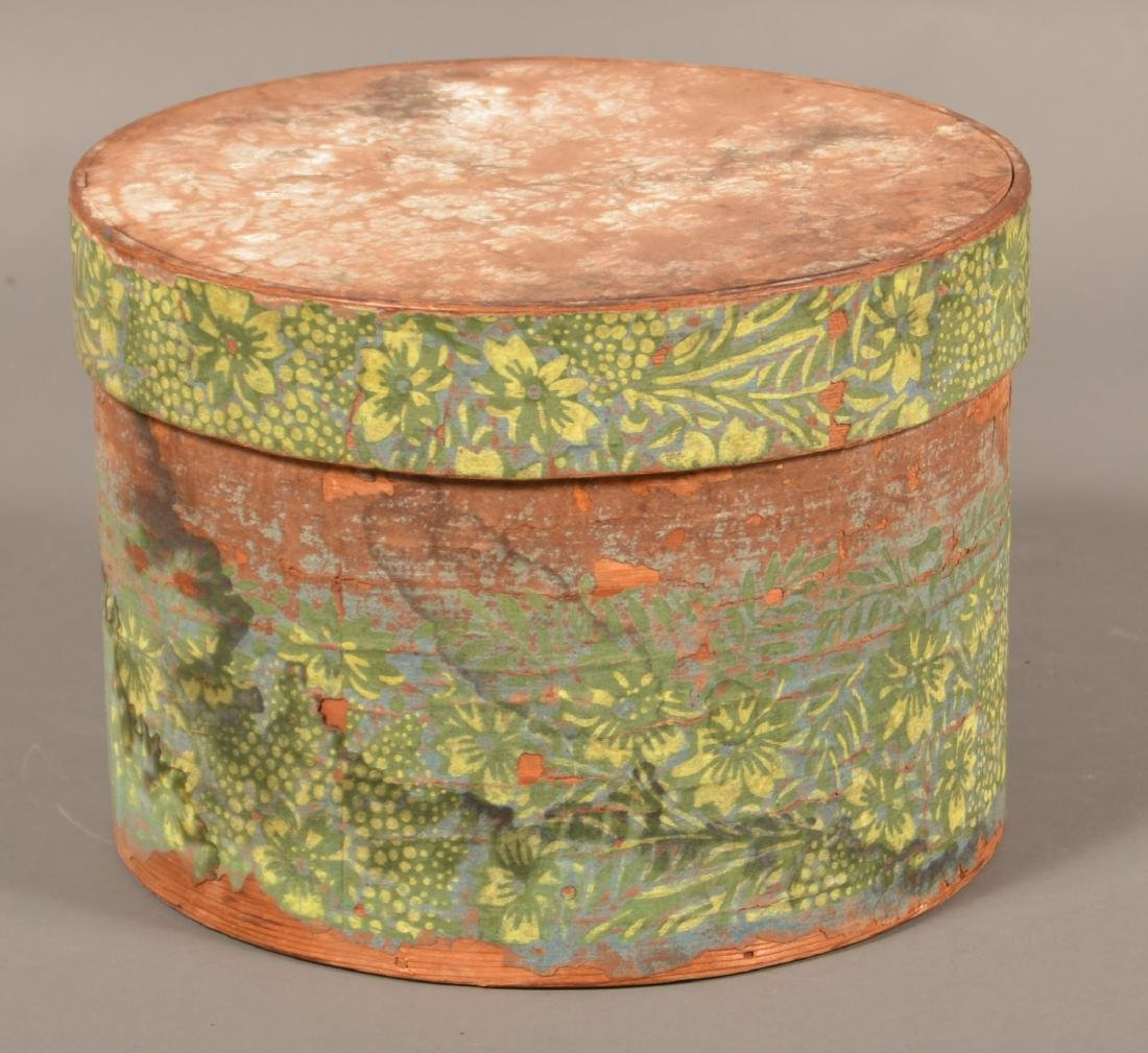 Two 19th Century Wallpaper Covered Boxes. - 3