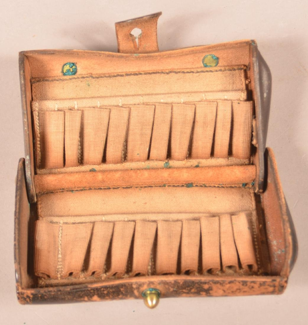 U.S. Cartridge Box and a Copper Powder Flask. - 4