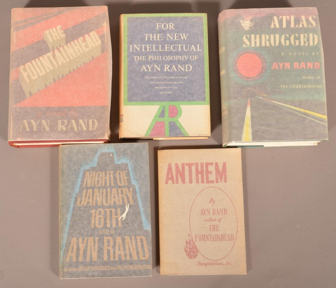 Lot of Five Books by Ayn Rand.