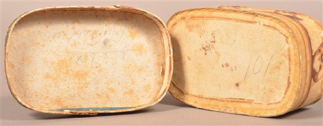 19th Century Oval Wallpaper Covered Box. - 7