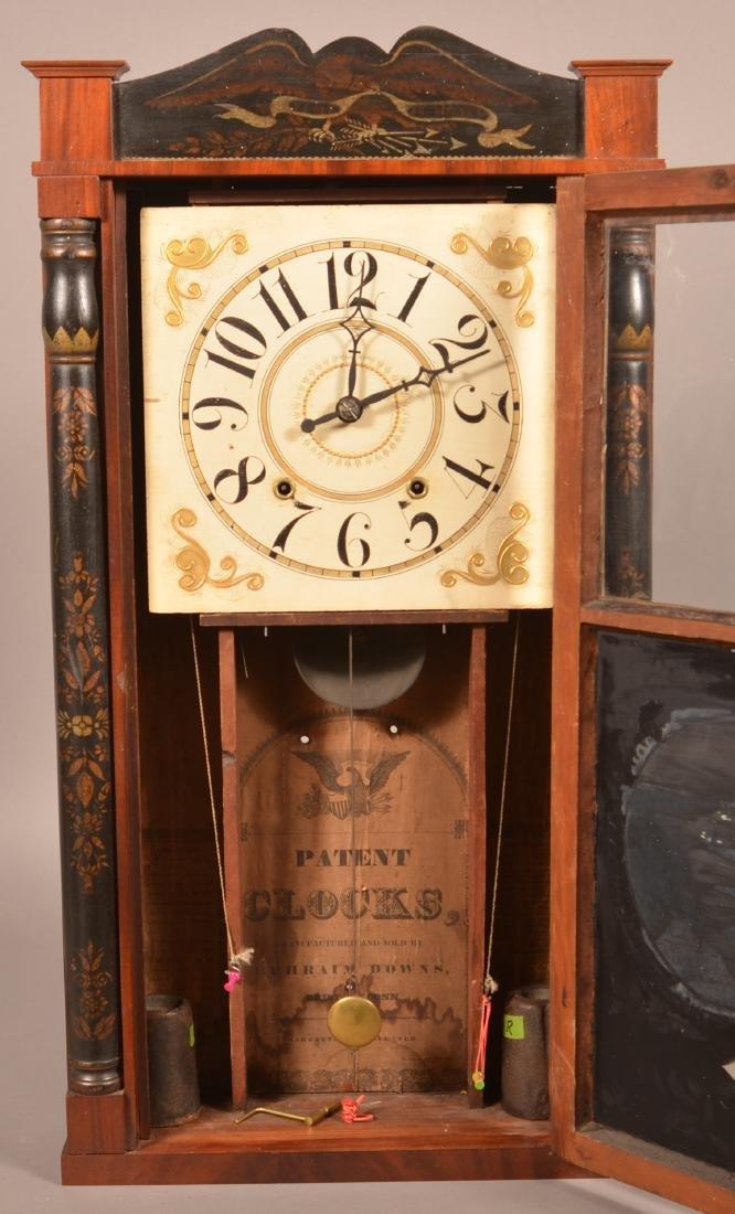Ephraim Downs Pillar and Splat Clock. - 3