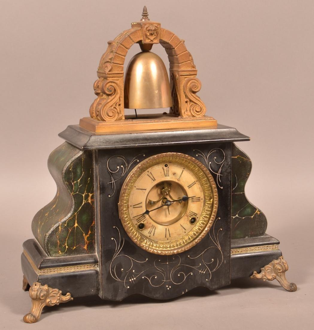 Gilbert No. 2200 Bell Top Mantle Clock.