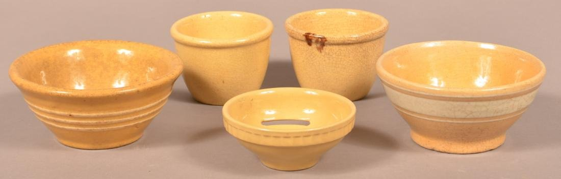 Five Pieces of Antique/Vintage Yellowware.