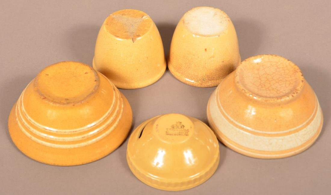 Five Pieces of Antique/Vintage Yellowware. - 2