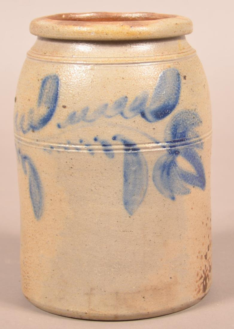 Unsigned Shenfelder Stoneware Storage Jar.