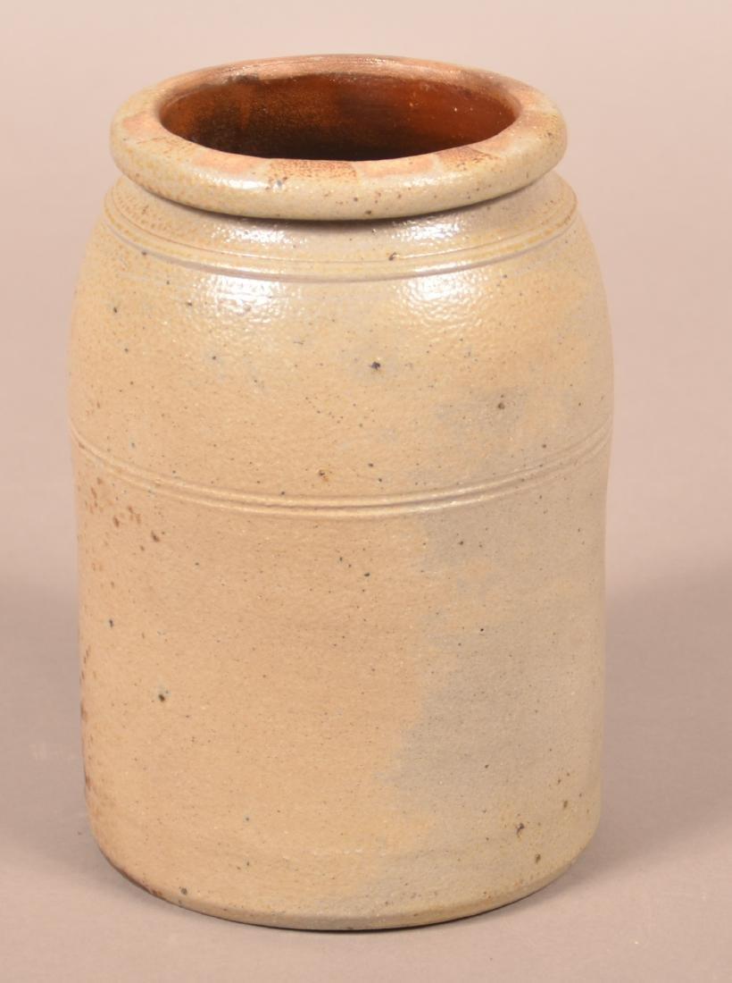 Unsigned Shenfelder Stoneware Storage Jar. - 2