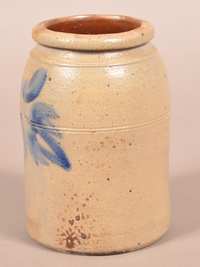 Unsigned Shenfelder Stoneware Storage Jar. - 3