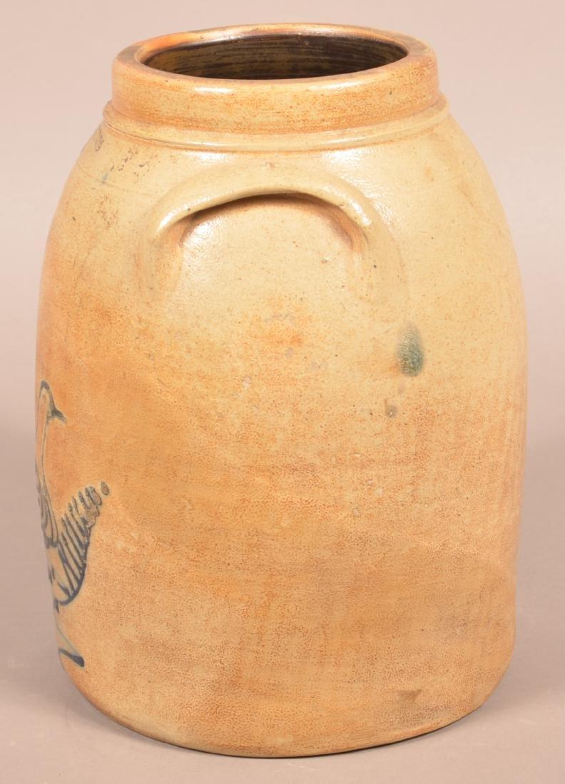 Whites, Utica Three Gallon Stoneware Crock. - 4