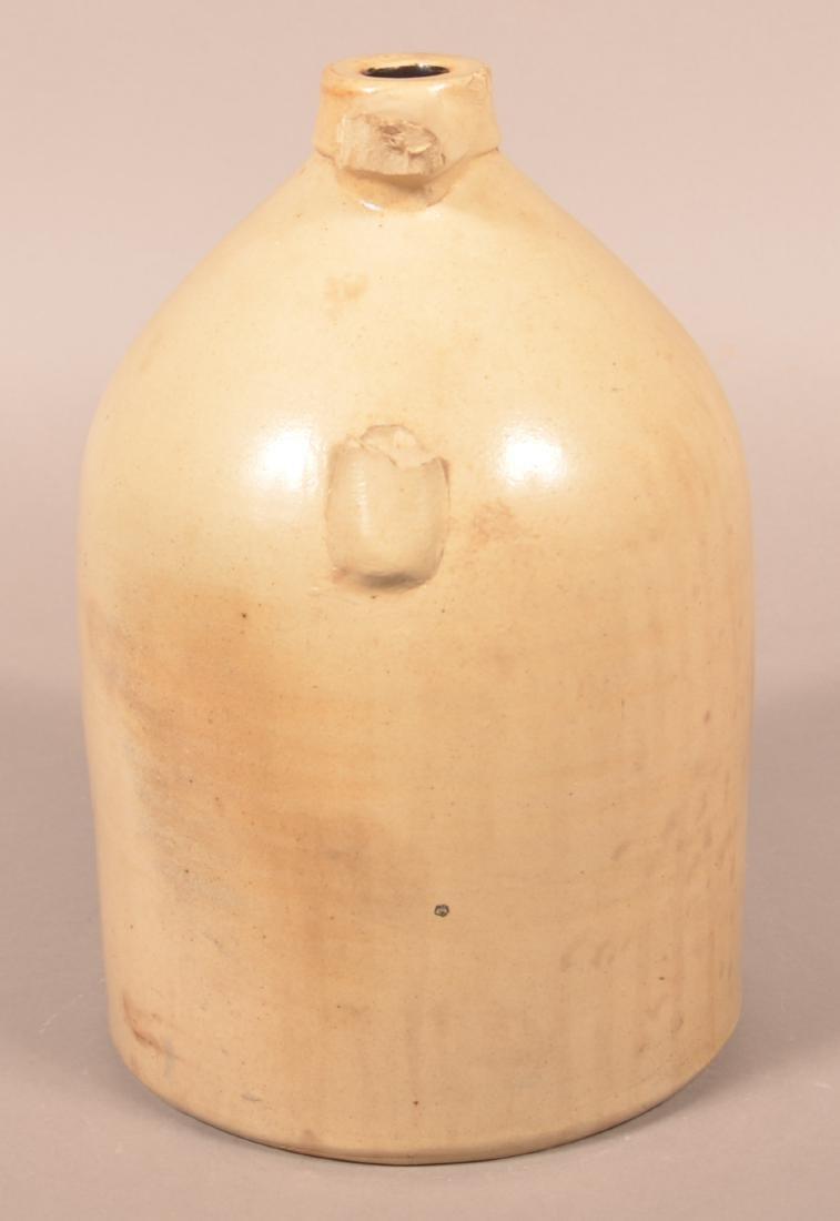 Two Gallon Stoneware Jug with Cobalt Bird Decoration. - 2