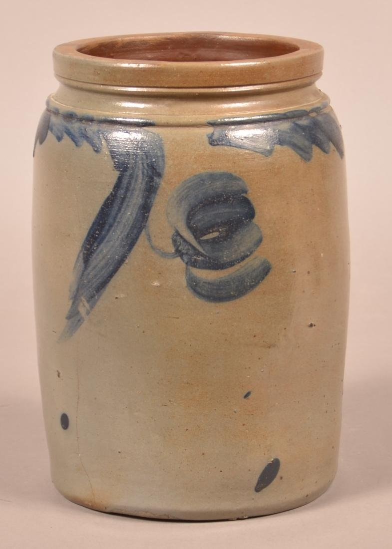 One Gallon Stoneware Jar Attributed to Remmey.
