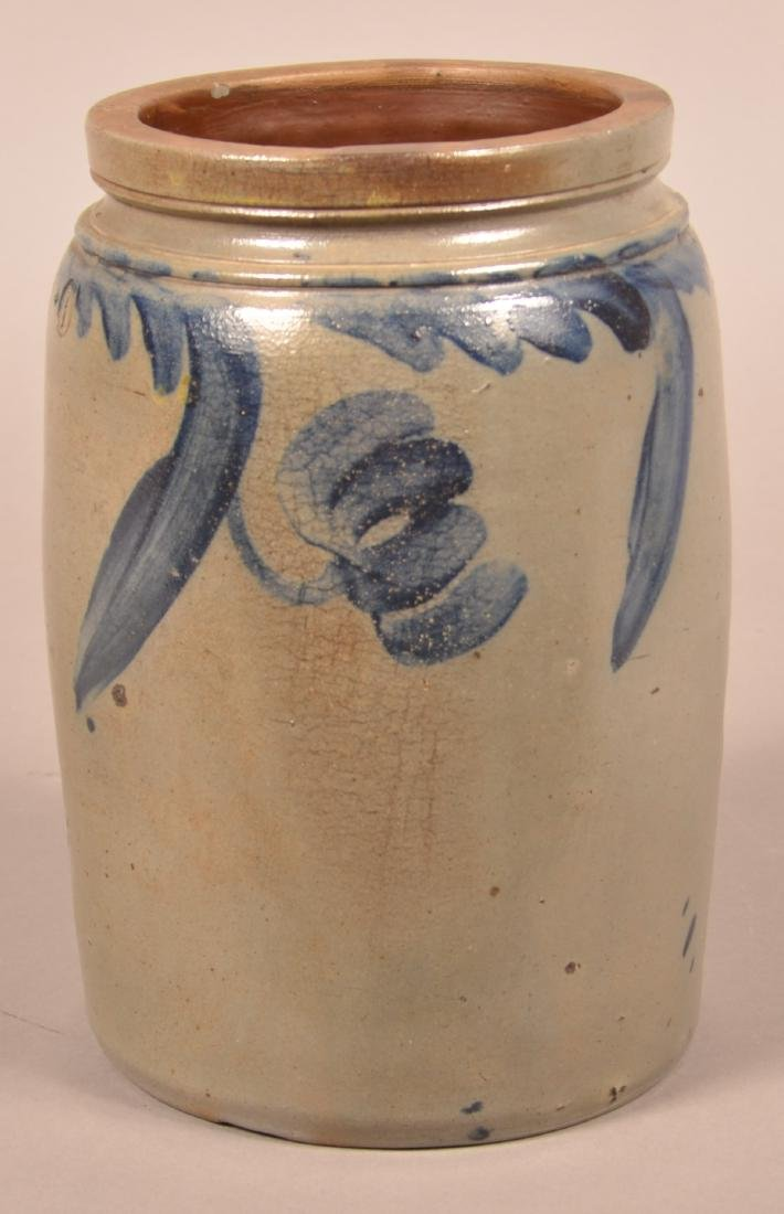 One Gallon Stoneware Jar Attributed to Remmey. - 3
