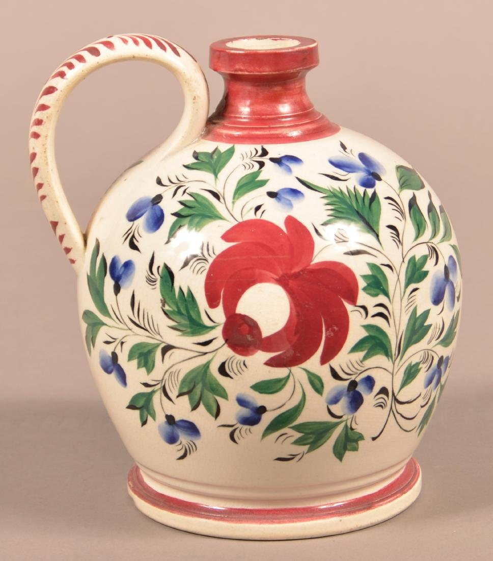 Staffordshire China Early Adams Rose Type Jug.