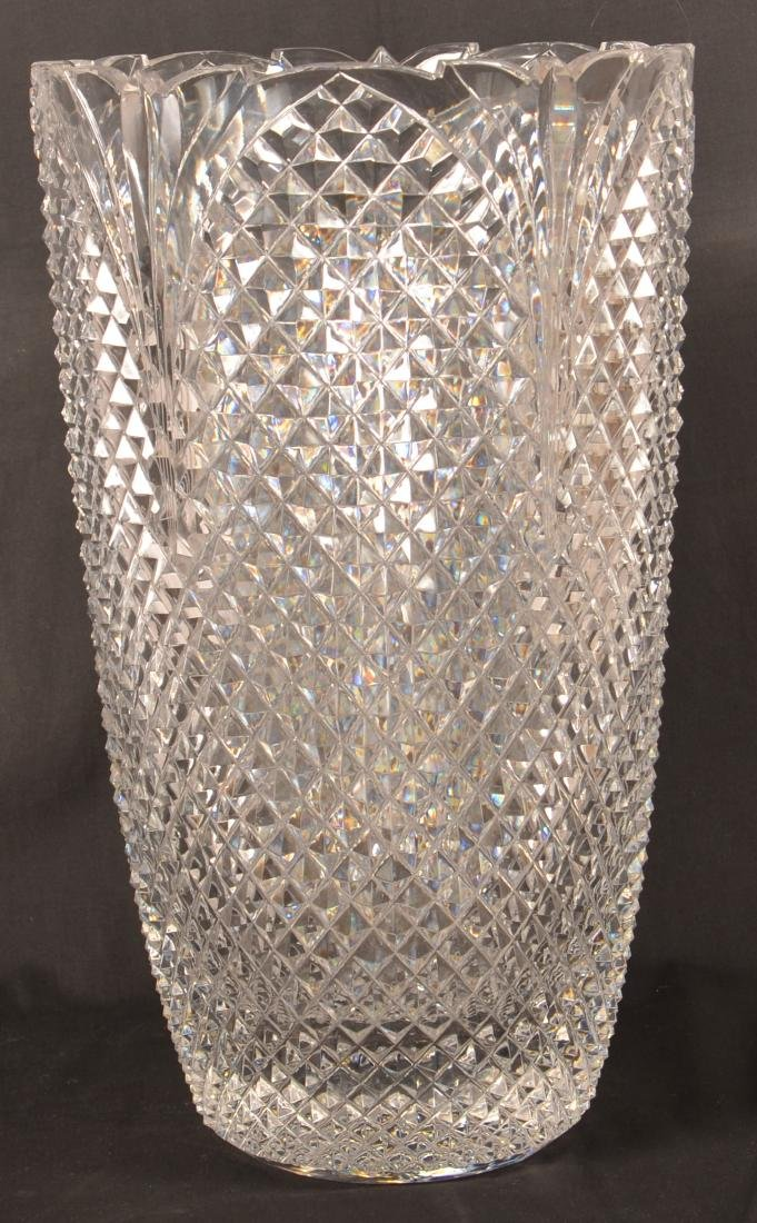 Large Two Part Design Guild Crystal Vase. - 2