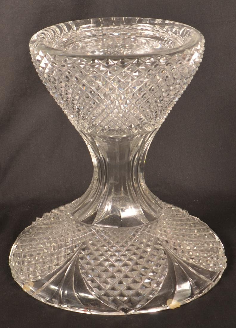 Large Two Part Design Guild Crystal Vase. - 3