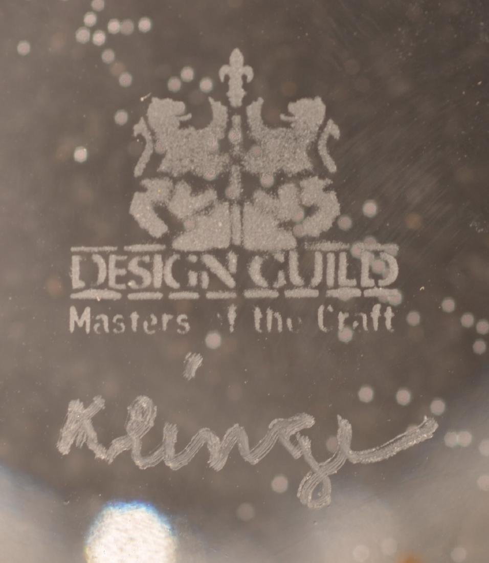 Large Two Part Design Guild Crystal Vase. - 4
