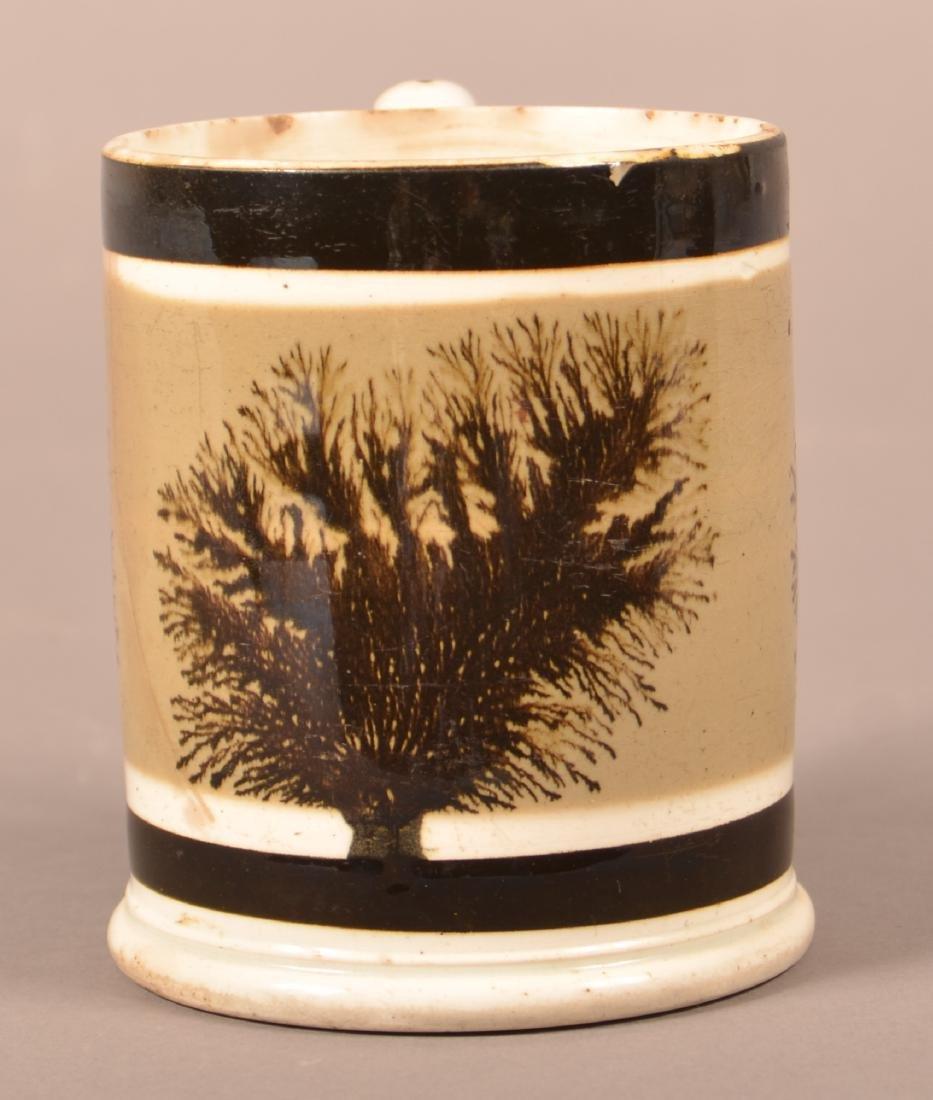 Mocha Seaweed Decorated Soft Paste China Mug.
