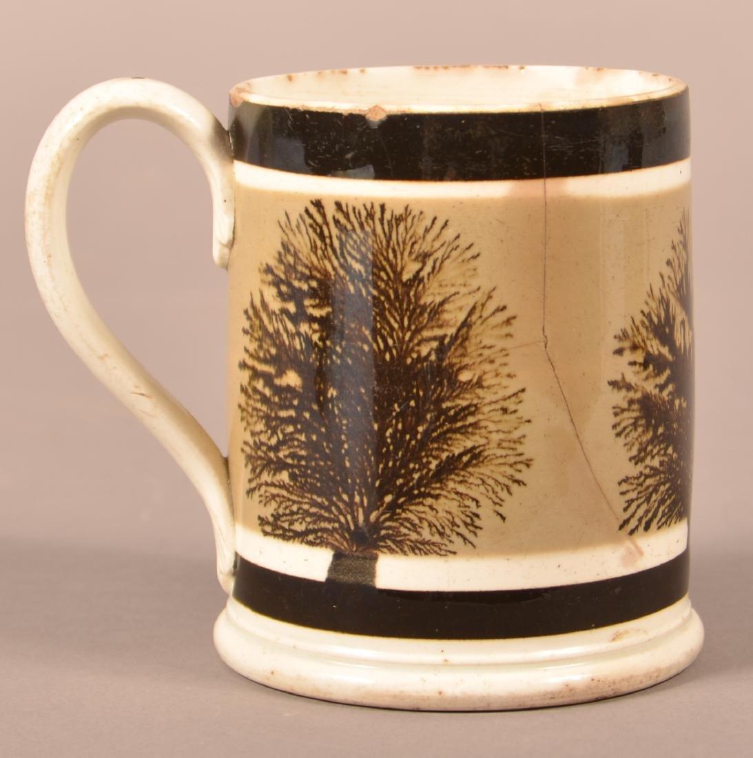 Mocha Seaweed Decorated Soft Paste China Mug. - 2