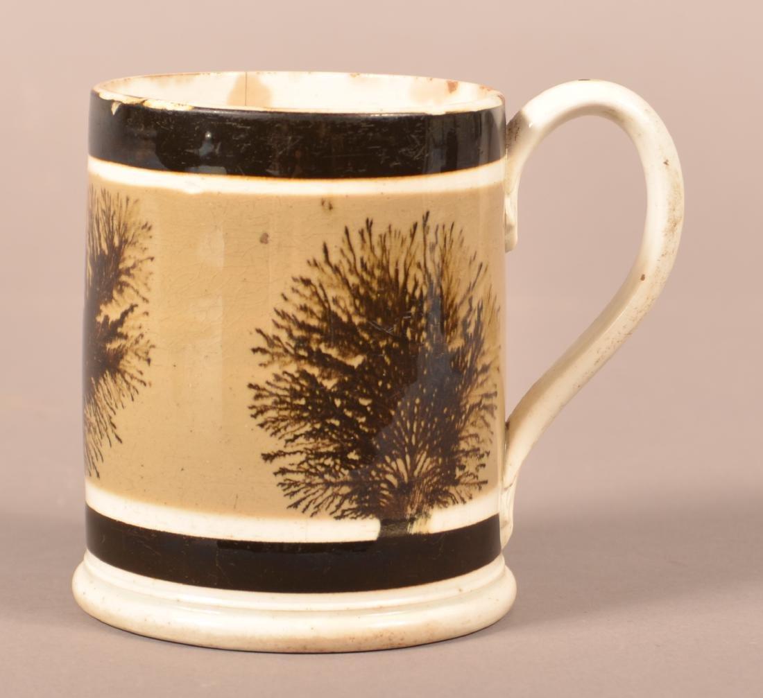 Mocha Seaweed Decorated Soft Paste China Mug. - 3