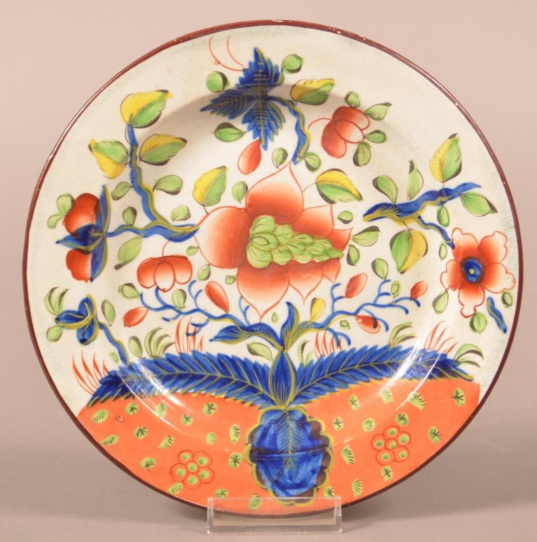 Gaudy Dutch Soft Paste China Dove Pattern Plate.