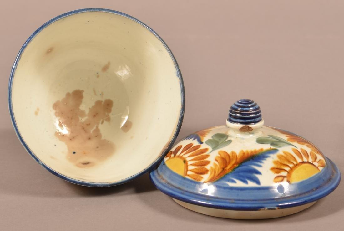Leeds Soft Paste China Covered Sugar Bowl. - 3