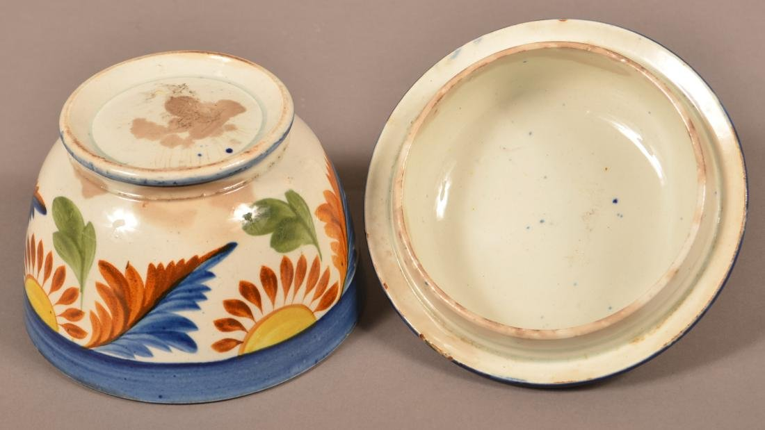 Leeds Soft Paste China Covered Sugar Bowl. - 4