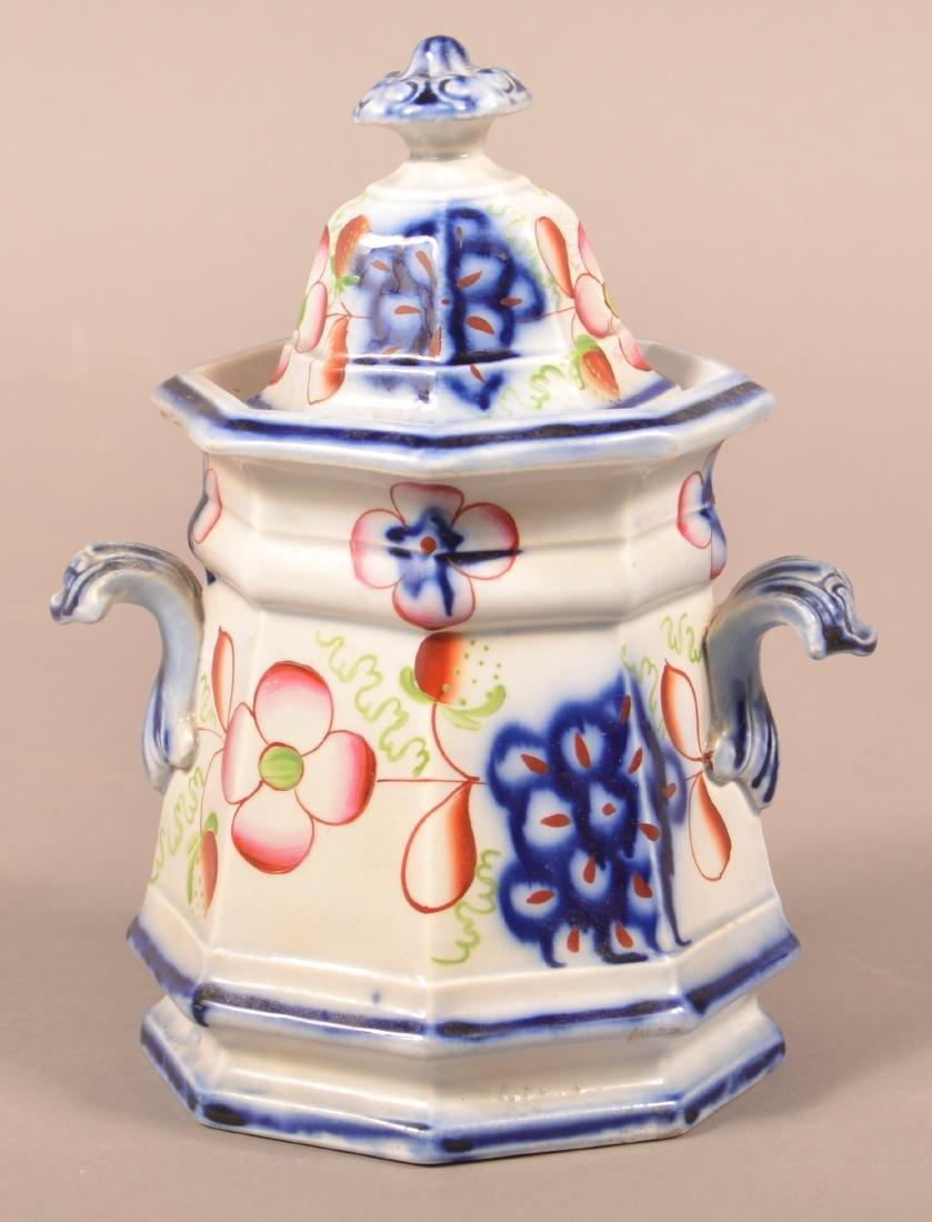 Gaudy Ironstone Strawberry Pattern Sugar Bowl.
