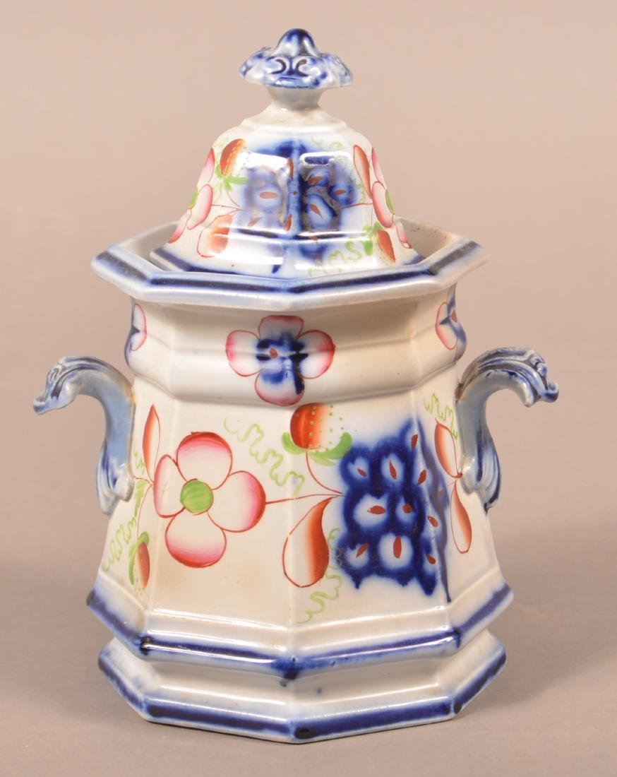 Gaudy Ironstone Strawberry Pattern Sugar Bowl. - 2