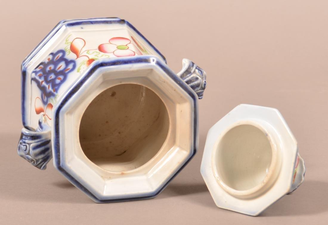 Gaudy Ironstone Strawberry Pattern Sugar Bowl. - 4