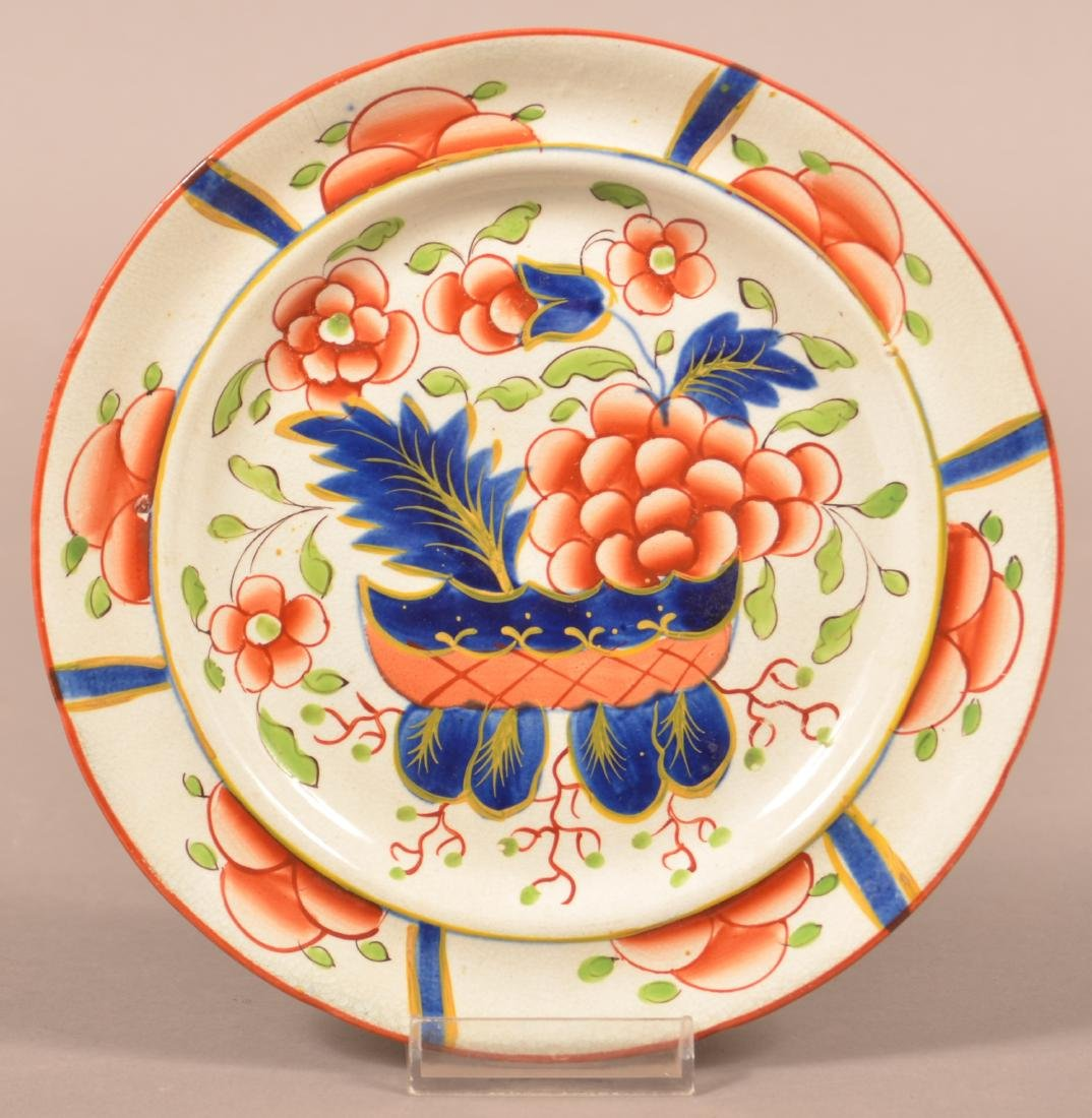 Gaudy Dutch China War Bonnet Pattern Plate.