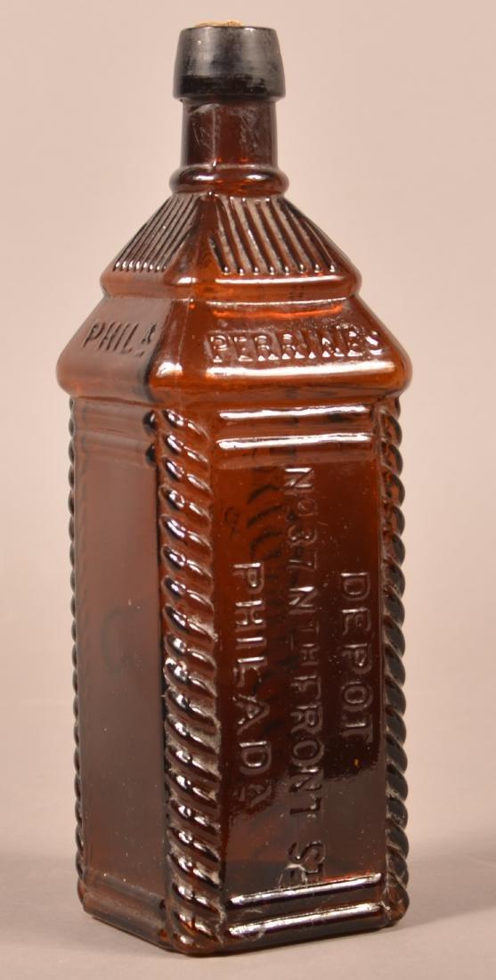 Perrines Apple Ginger Amber Glass Bitters Bottle. - 2